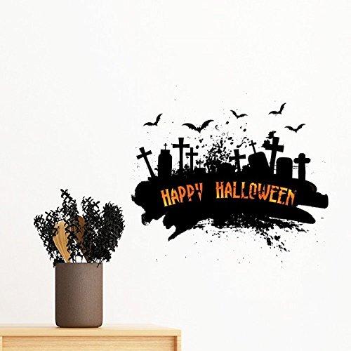 ght Friedhof Halloween-entfernbare Wand-Aufkleber-Kunst-Abziehbilder Wand-DIY Tapete Für Zimmer Aufkleber 30Cm ()