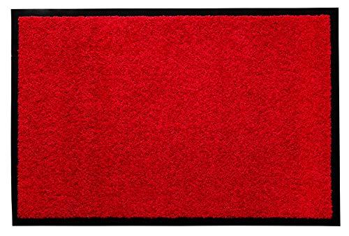andiamo Schmutzfangmatte Fußabtreter Türmatte Fußmatte Sauberlaufmatte Schmutzabstreifer Türvorleger - Eingangsbereich In/Outdoor - rutschhemmend waschbar rot Polypropylen- 80x120 cm - 5 mm Höhe (Graue Rote Und Teppich)