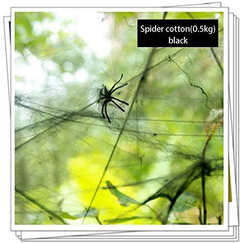 CYANNAN Halloween Deko - Spinnweben Mit Spinnen