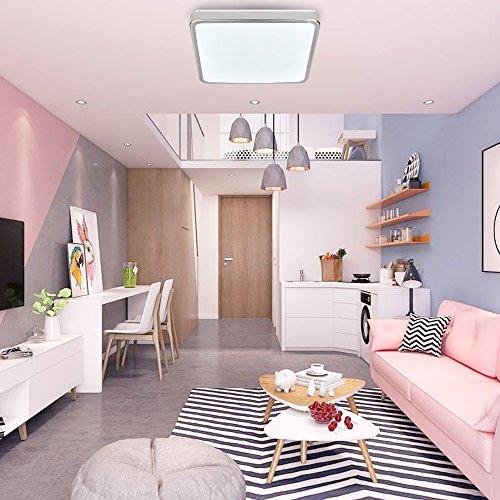 Hengda® 12W LED Schlafzimmer Deckenbeleuchtung Energiespar Eckig Deckenleuchte IP44