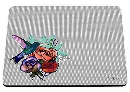 hippowarehouse-floral-bird-patch-motif-imprime-tapis-de-souris-accessoire-de-base-en-caoutchouc-noir