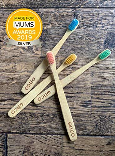 Onco - Cepillo de dientes bambú - 4 en paquete