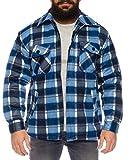 Fashion Herren Thermohemd gefüttert - mehrere Farben ID530 (3XL, Blau_4)