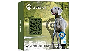 Tractive GPS Tracker for Dogs and Cats - waterproof pet finder collar attachment - Hunters Edition