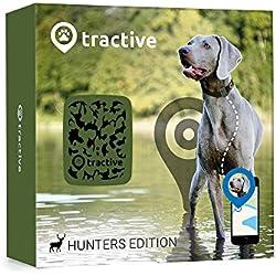 Rastreador Tractive GPS para perros y gatos - resistente al agua se ajusta al collar, diseno camuflaje