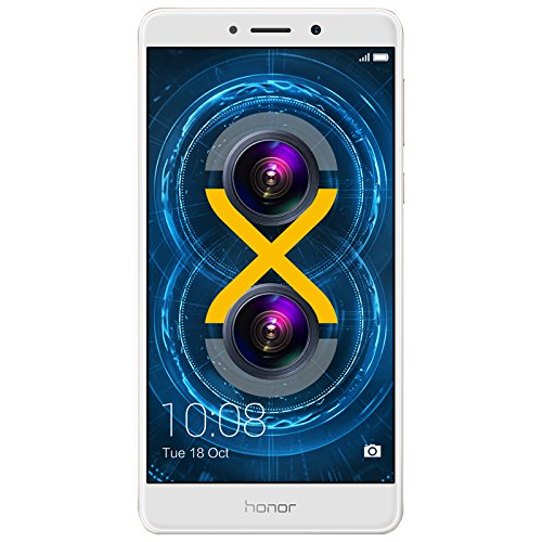 Honor 6X Smartphone 4G LTE, Diplay 5.5 pollici FHD, 32 GB ROM, 3 GB RAM, Dual Camera 12 Megapixel, Sensore Fingerprint, Android, Oro