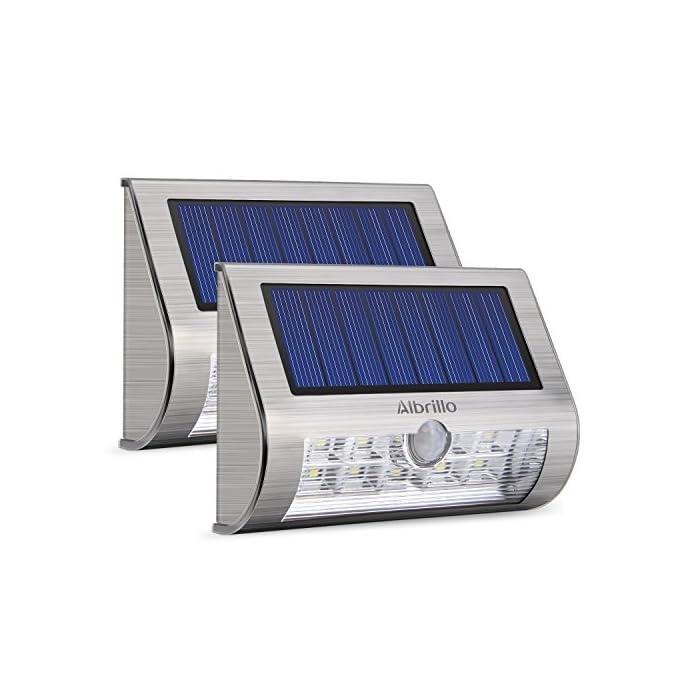Albrillo N 2 Led Lampe Solaire Exterieure Avec Detecteur De