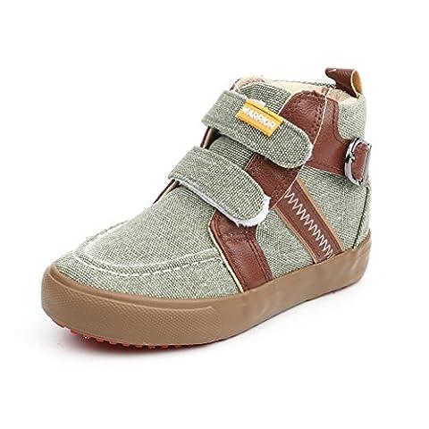 Basket mode velcro garçon fille chaussure creeper en toile janes chaussure de sport marche gothique sneakers pour mixte enfant classique vert 23