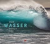 Wasser 2019, Wandkalender im Querformat (54x48 cm) - Landschaftskalender / Naturkalender mit Monatskalendarium