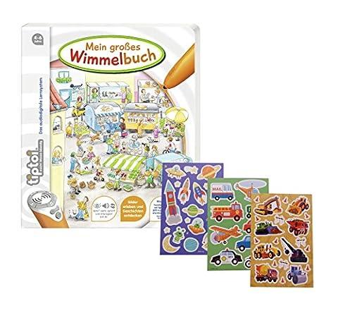 Ravensburger tiptoi ® Mein großes Wimmelbuch + Gratis Kinder Sticker