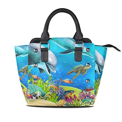 LUPINZ The Coral Reef Casual Vintage Handtasche mit Tragegriff -