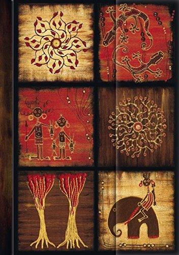 """Premium Address Book Big \""""African Art - Mosaik III\"""": Adressbuch mit hochwertiger Folienveredelung"""