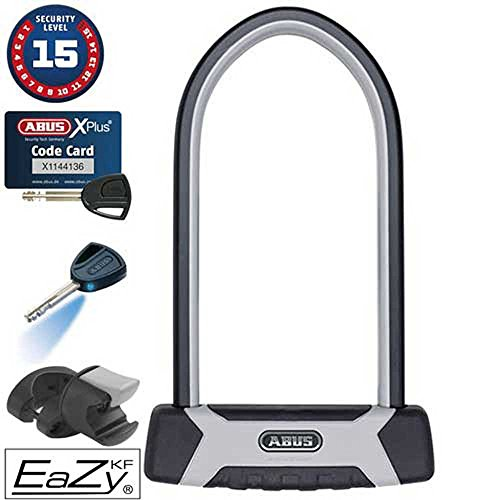 Abus Bügelschloss 540/160HB300+Eazy KF Granit X Plus Schwarz, Grau mit Codekarte Schlüsselschloss