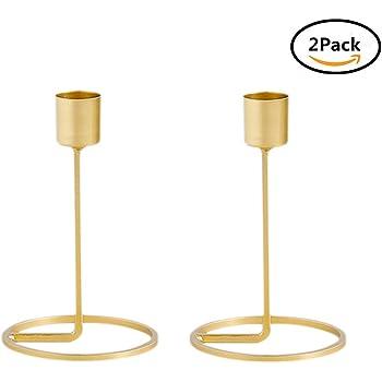 Kerzenhalter, Metall Gold Kerzenhalter Für Kegel Kerzen Eisen Dünne Metall  Moderne Tisch Dekorative Herzstück Elegante