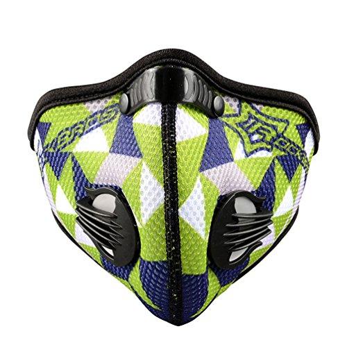 ROCKBROS Masques Anti-Pollution vélo Masque Respiration avec PM...