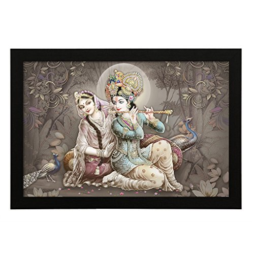 Delight Fluet Krishna Radha Digital Printed UV Photo Frame Delight Fluet Krishna Radha Digital Printed UV Photo Frame 51lvqvExa5L