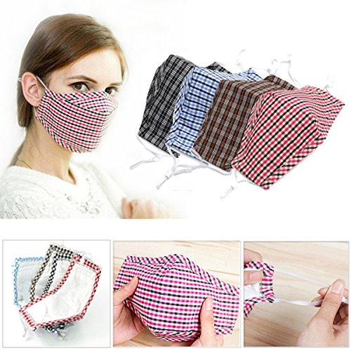 Bazaar Radfahren Anti Wind Staub Grippe Nose Mouth Muffel Tuch Abdeckungs Barrier Aktivkohle Baumwolle Face Mask Ohrbügel -