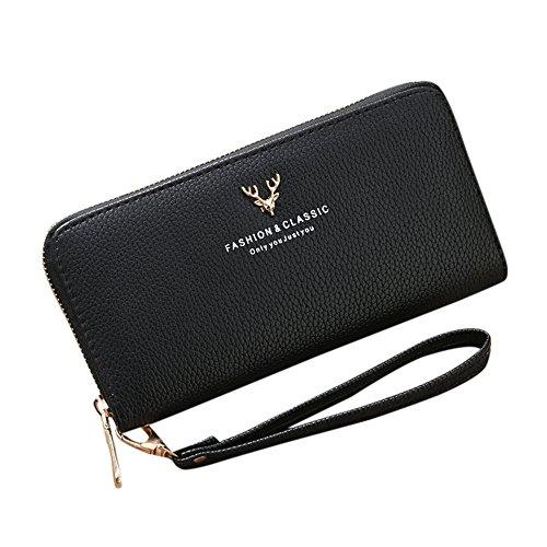 LEvifun Women Coin Purse Fashion & Classic Phone Bag Handbag Pouch Money Wallet Mini Bag Retro Vintage Credit Card Holder Key Ring Change Purse for Women Teen Girl
