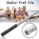 1Gitarre Verarbeitung Polieren Werkzeug Gitarre Bund Dressing Abrichten Datei mit 3Größe Kanten Gitarrenbau halten Werkzeug Schwarz