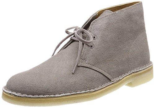 Clarks Herren Desert Boots, Beige (Taupe Canvas), 43 EU (Clark Boot Wildleder)