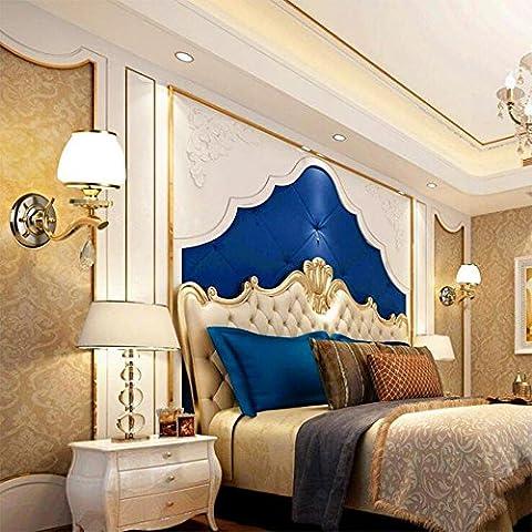 Europäische Gold Eisen Kristall Kristall Wohnzimmer Wand Lampe Schlafzimmer Nachttisch Lampe Restaurant Aisle Wandleuchte Hotel Wandleuchte , single head 30*26cm