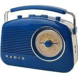 Radio Enceinte rétro 60's Bluetooth Bleue La chaise longue 37-1D-003