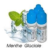 MA POTION - Lot de 3 E-Liquide Menthe Glaciale, (30ml = 3x10ml), Eliquide Français Ma Potion, recharge liquide cigarette électronique. Sans nicotine ni tabac
