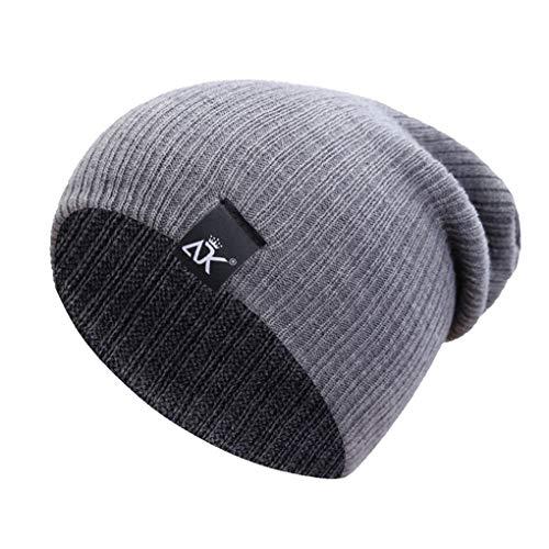 Beaums Unisex Colore solido invernali maglia Berretti Hip-hop Snap cappello  floscio esterno degli uomini 84f80e3d8bc0