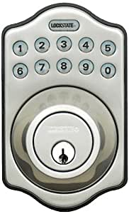 LockState LS-500i-DB-SN Remote Lock WiFi Programmable Electronic Deadbolt Door Lock, Satin Nickel by LockState (English Manual)