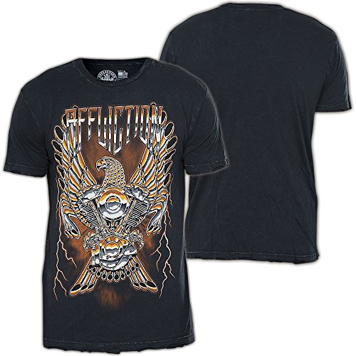 Affliction T-Shirt Iron Eagle II Schwarz Schwarz