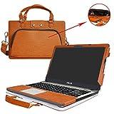ASUS X541SA X541NA X541UA Housse,2 en 1 spécialement conçu Etui de protection en cuir PU + sac portable Sacoche pour 15.6' ASUS VivoBook Max X541SA X541UA X541NA ordinateur(NON compatible avec Asus X540/X542),Marron