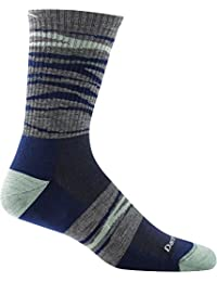 Navy Medium Darn Tough Switchback Micro Crew Light Cushion Sock MenS