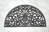 Homescapes Halbrunde Schmutzfangmatte Fußmatte Ornament 45 x 75 cm Türmatte