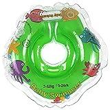 Babyswimmer Tüv GS - Giubbotto ad anello, taglia 3 - 12 kg (0 - 24 mesi), aiuto per il nuoto per il bagnetto, anello galleggiante, piccolo verde