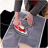 #9: EMNDR Protective Nylon Mesh Ironing Cloth Iron Delicate Garment Clothes Guard Press Protection Pad Insulation Mat Home Ironing