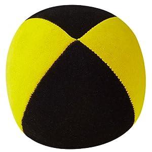 Henrys Pelota para Malabares Malabares Superior (Terciopelo) 67 mm, Colour Negro-Amarillo