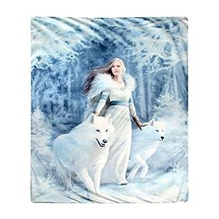Winter Guardians - Fleece Blanket Throw by Anne Stokes 160cm