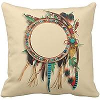 emvency manta funda de almohada Southwest nativo americano turquesa arco flecha decorativa Funda de almohada Western
