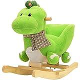 Pink Papaya Animale a dondolo Drago Grisu, cavallo a dondolo per bambini e bebé con schienale e bracciolo