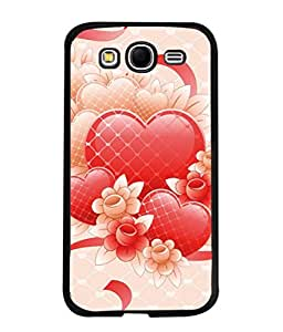 PrintVisa Designer Back Case Cover for Samsung Galaxy Grand I9082 :: Samsung Galaxy Grand Z I9082Z :: Samsung Galaxy Grand Duos I9080 I9082 (Pink Hearts And Flowers Design)