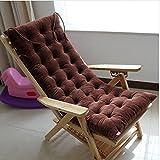 Winter Seat Cushion Soft Thicken Deck Chair Pad Sofa Couch Mat (120*48cm, Coffee)