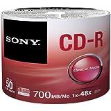 CD Recordable Media - CD-R - 48x - 700 MB - 50 Pack Spindle - Bulk