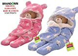 #3: BRANDONN Sleeping Bag (Sky Blue/ Baby Pink) - Pack Of 2