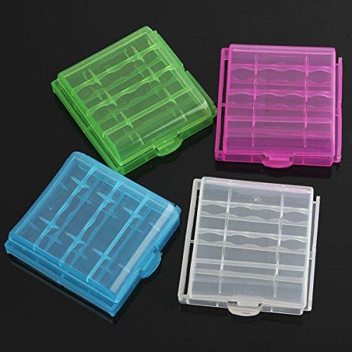 Bluelover Boîte de rangement en plastique Case B Pour 4x14500 / AA Batterie Li-ion