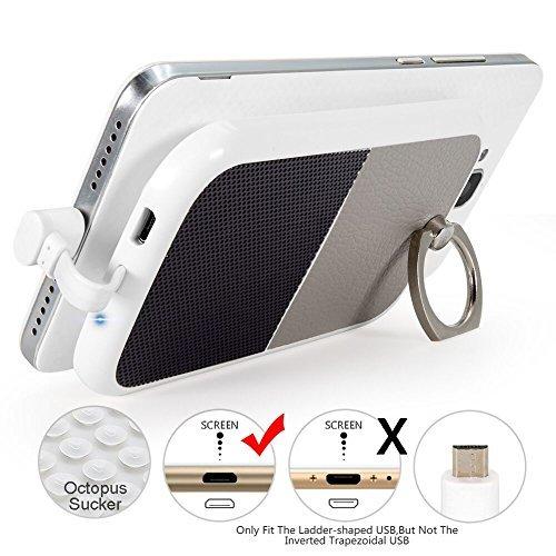 Cover Caricabatterie samsung Galaxy S7/S6 Edge,4000mAh Esterna Power Bank,ULBER Custodia Batteria con Micro USB Spina, Battery Case Ricaricabile Powerbank per Huawei P8 lite S5 HTC M8 LG Moto G5 G4