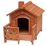 Hundehütte Hundehaus Hundehöhle Tierhaus Veranda Schornstein Fichtenholz Hund