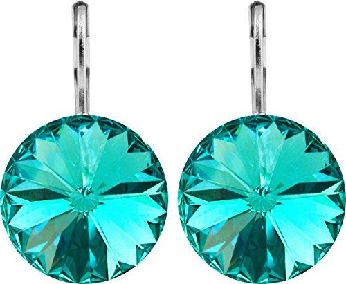 Rivoli Ohrhänger Large mit 14mm Swarovski-Kristall, Farbe:light turquoise