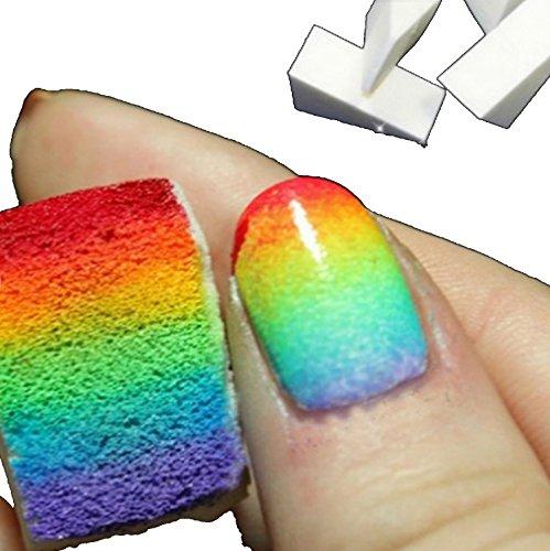 Nailart & Mehr8 éponges microporeuses et blanches nail art pour un effet dégradér