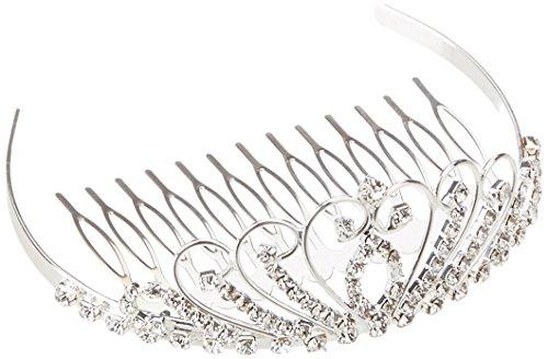 Darice v35963Mini Tiara mit Strass Krone und Kamm, Silber (Silber Mini-tiara)