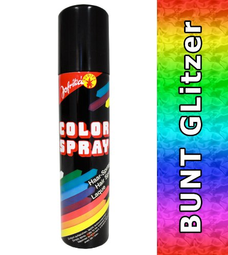 NET TOYS Glitzerspray bunt Haarspray buntes Haar Spray Colorspray Haarcoloration Haarsprays Colorsprays Haarcolorationen